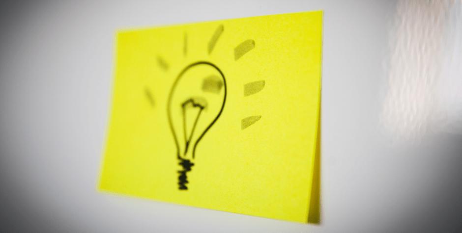 Idee Glührbirne Mittelstand Innovation Design Thinking