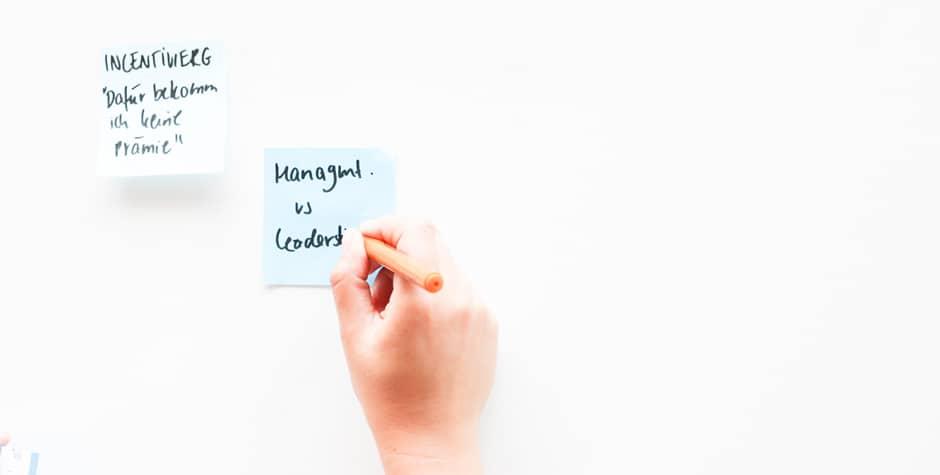 Coaching für Führungskräfte bei bei Design Thinking und Begleitung