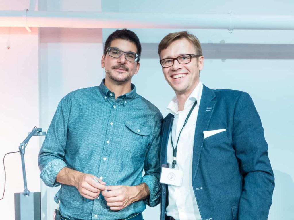 Alexander Osterwalder und Jens Bothmer in London at Business Modell Generation