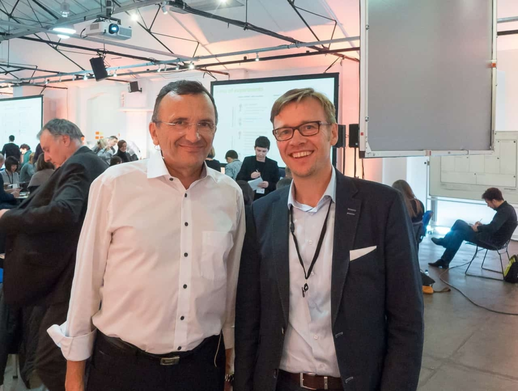 Yves Pigneur und Jens Bothmer in London at Business Modell Generation Masterclass