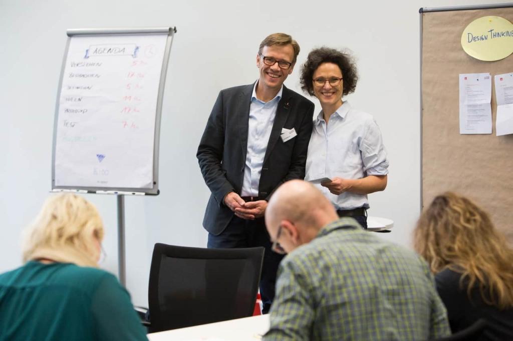 Design Thinking Workshop Bosch Renningen · Jens Bothmer und Dr. Christiane Gerigk - Photo Annette Hornischer