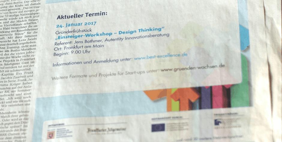 Innovation Workshop bei Frankfurter Allgmeine Zeitung: Design Thinking FAZ Institut