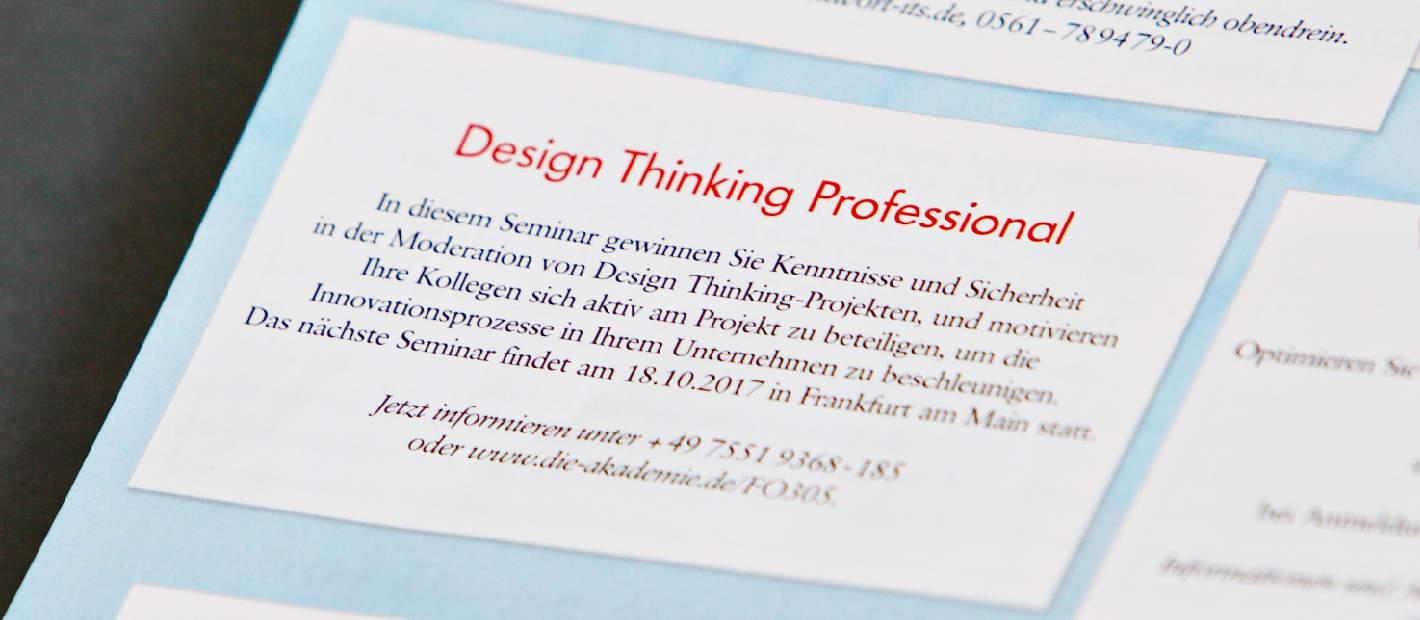 Brand Eins Die Akademie Design Thinking Professional