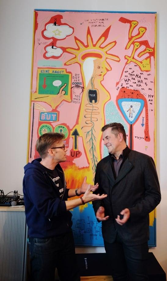 Jens Bothmer im Gespräch mit Professor Gunnar Spellmeyer
