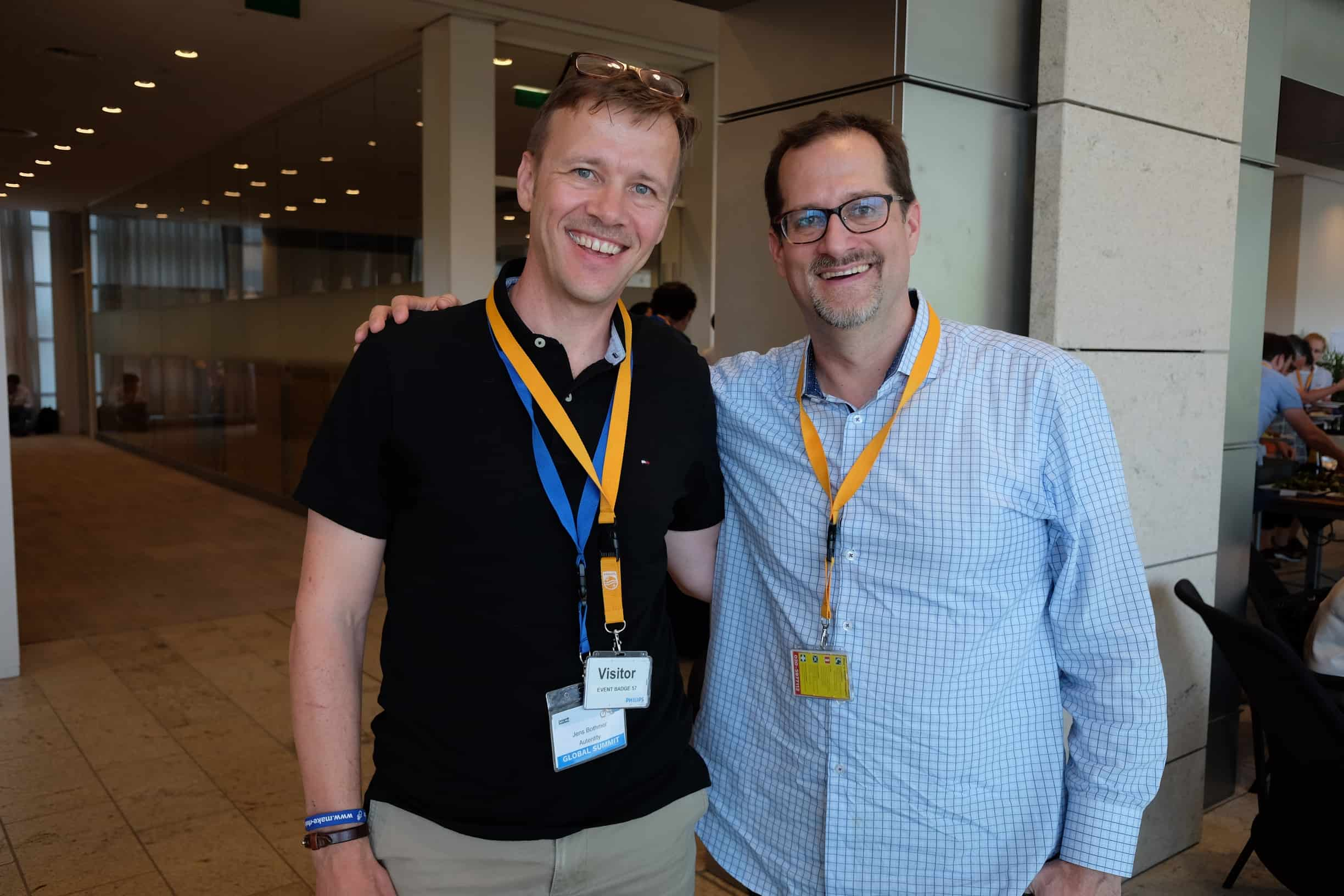 Jens Bothmer and Jim Kalbach from famous book Mapping Experiences