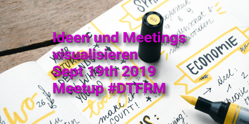 Meetup Ideen und Meetings visualisieren Sketchnote