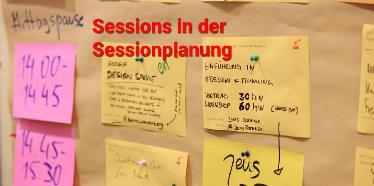 Unternehmensbarcamp Sessionplanung